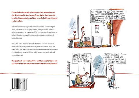 Buchauszug back cover - Irr-Witziges und Lustiges aus dem Arbeitsrecht