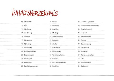 Buchauszug Inhaltsverzeichnis - Irr-Witziges und Lustiges aus dem Arbeitsrecht